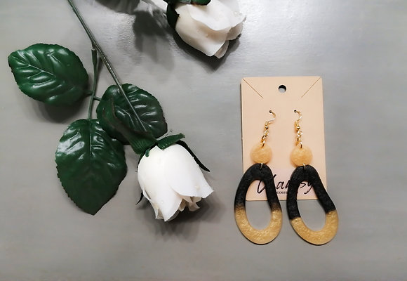 Chantsy Accessories - Black and Gold Earrings