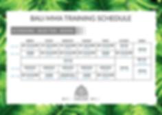 BALI MMA Muay Thai, Kickboxing and Boxing Schedule