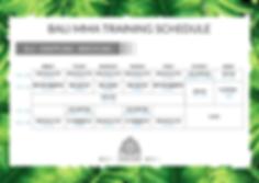 BALI MMA BJJ, Grappling & Wrestling Schedule