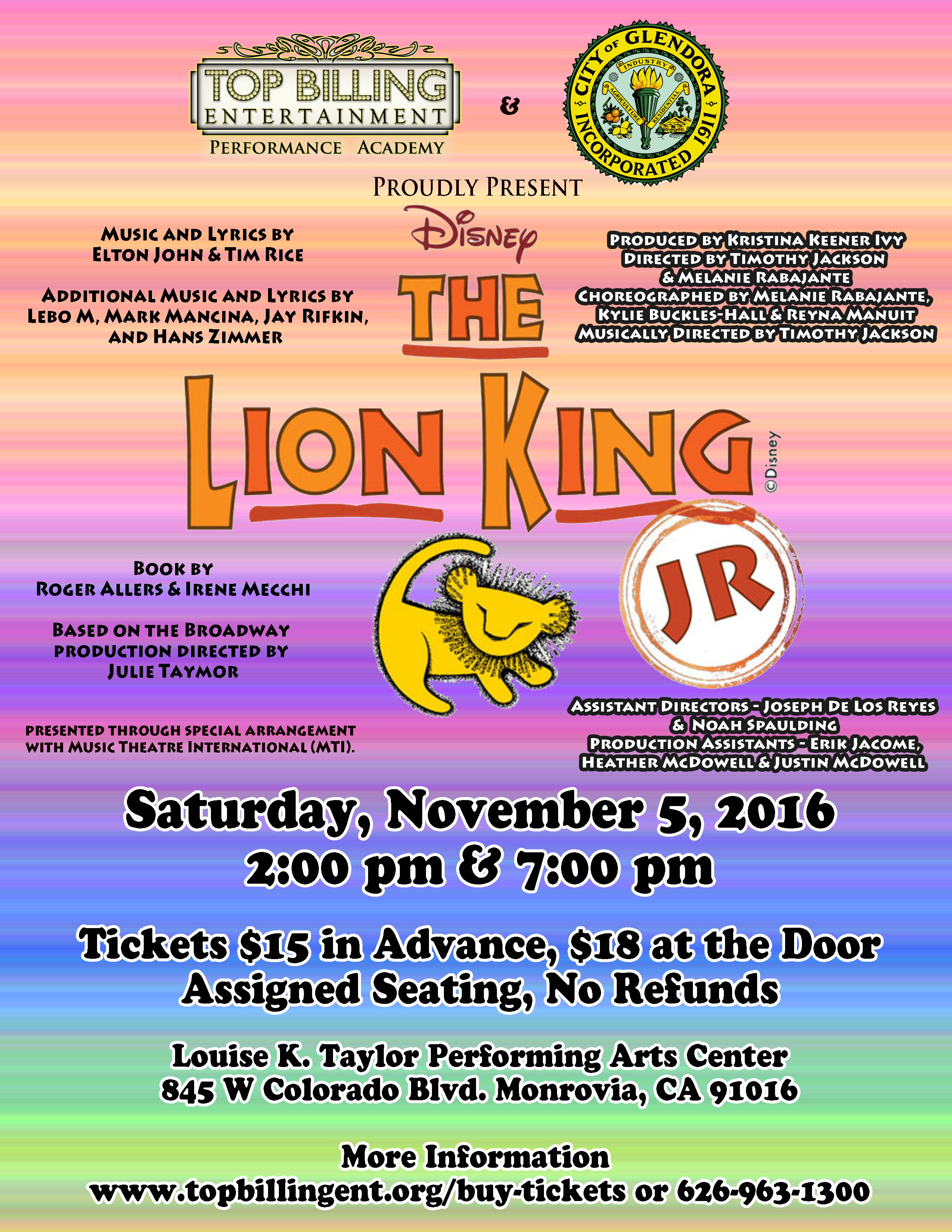 Lion King November 2016