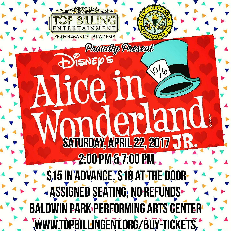 Alice in Wonderland April 2017