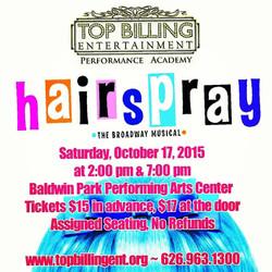 Hairspray October 2015