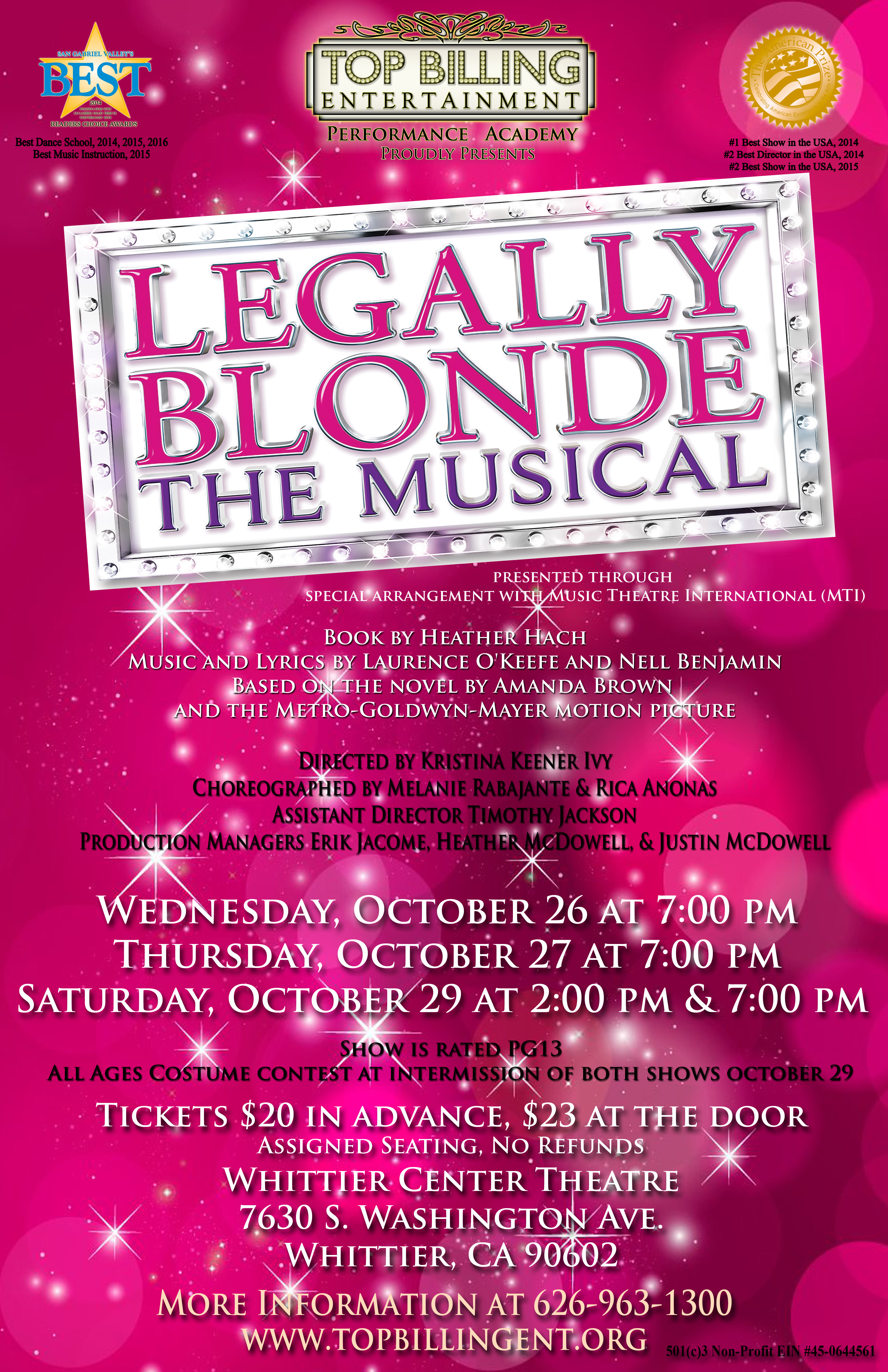 Legally Blonde October 2016