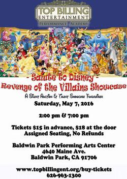 Disney Showcase 2 May 2016