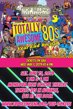 Awesome 80's Recital June 2019