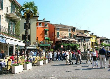 Commercial activity on the Lake Garda Sirmione
