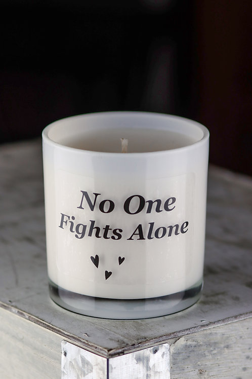 No One Fights Alone Candle