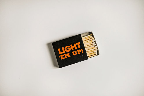 LIGHT 'EM UP MATCHBOOK