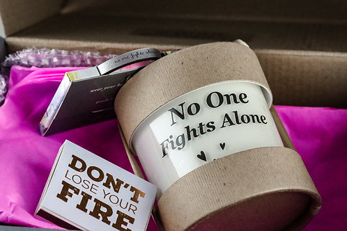 No One Fights Alone Candle and Bracelet Box