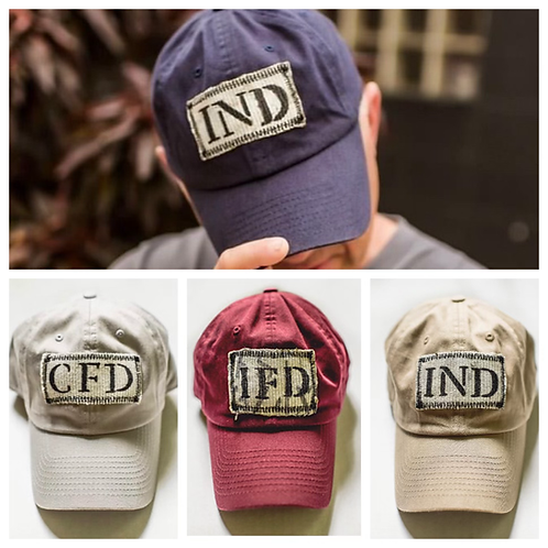 IND RECYCLED FIRE HOSE HAT