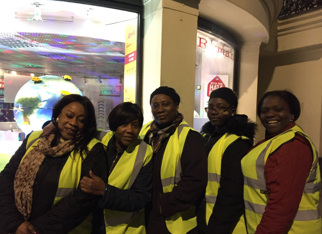 Volunteers for Homeless Drive