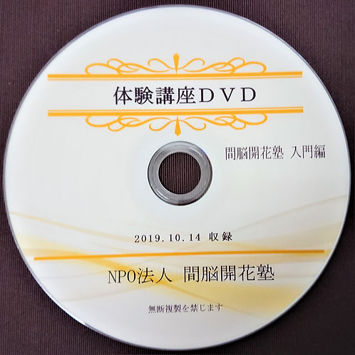 間脳開花 体験講座DVD