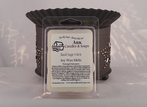Soy Wax Melts Basil Sage Mint