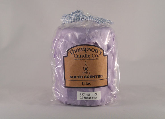 Thompson Candle 18oz. Pillar Lilac