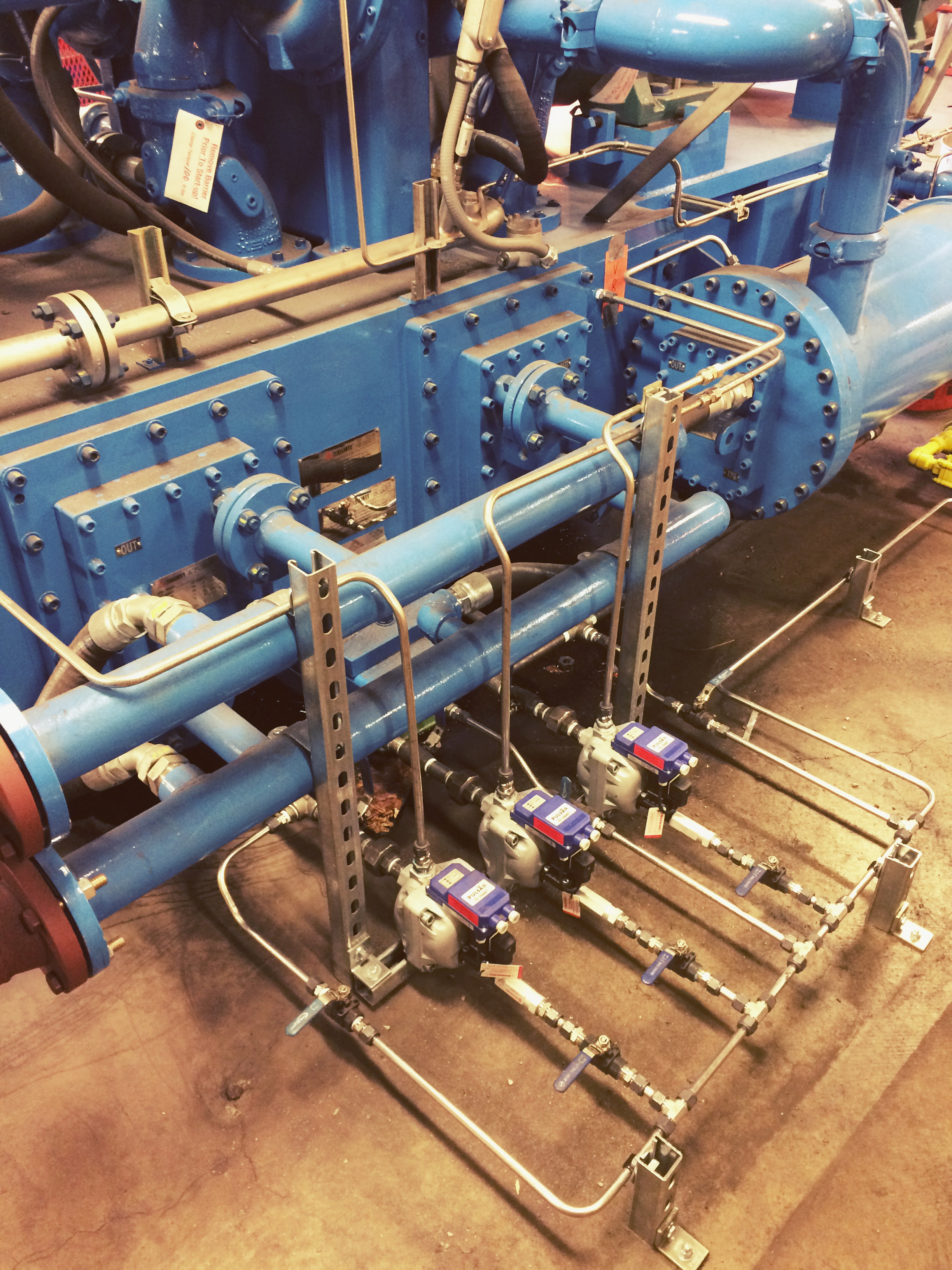 Compressor & Tubing Install