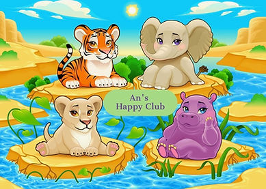 An's Happy middle baby-cute-jungle-anima