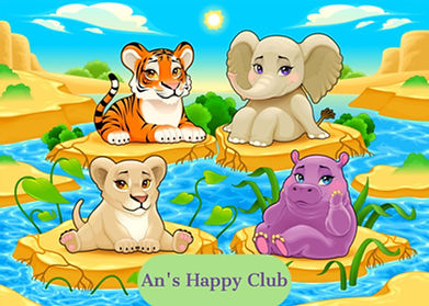An's Happy Club baby-cute-jungle-animals