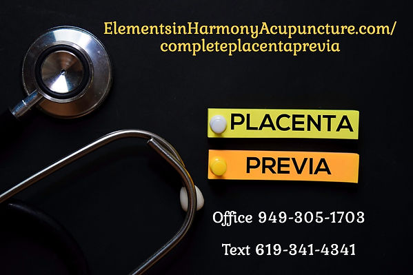 complete placenta-previa-text-on-sticky-