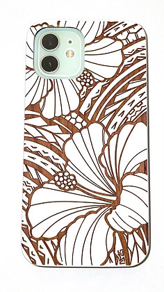 Tribal Hibiscus White Case (iPhone)