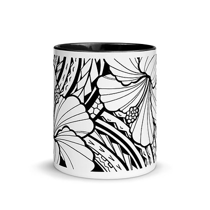 Hibiscus Mug with Color Inside