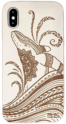 Tribal Whale White Case (iPhone)