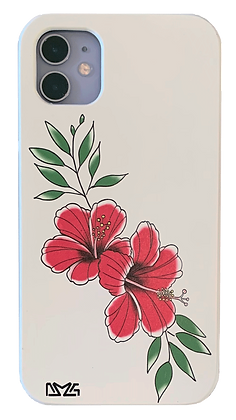 Red Painted Flower Case (iPhone)