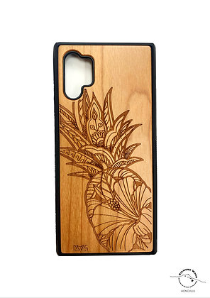 Note 10 Plus Pineapple Hibiscus Natural Wood