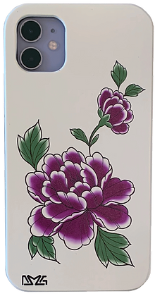 Purple Painted Flower Case (iPhone)