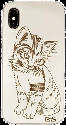 Feral Kitten White Case (iPhone)