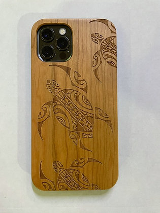 Tribal Honu Cherry Wood