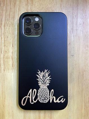 Aloha Pineapple Case Black (iPhone)