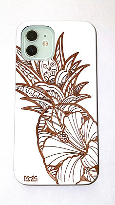 Hibiscus Pineapple White Case (iPhone)