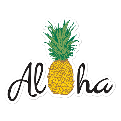 Aloha Pineapple Bubble-free stickers