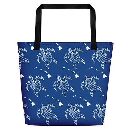 Blue Honu Beach Bag