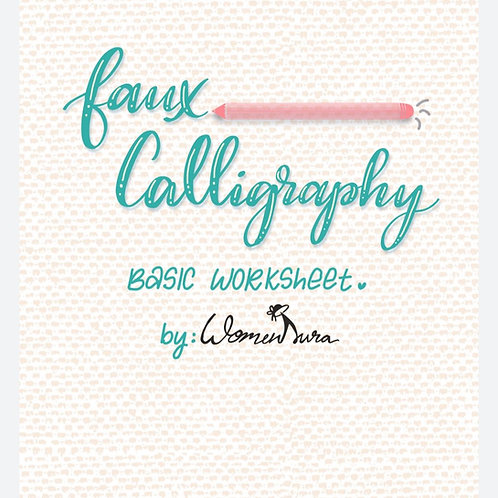 Faux Calligraphy Worksheet