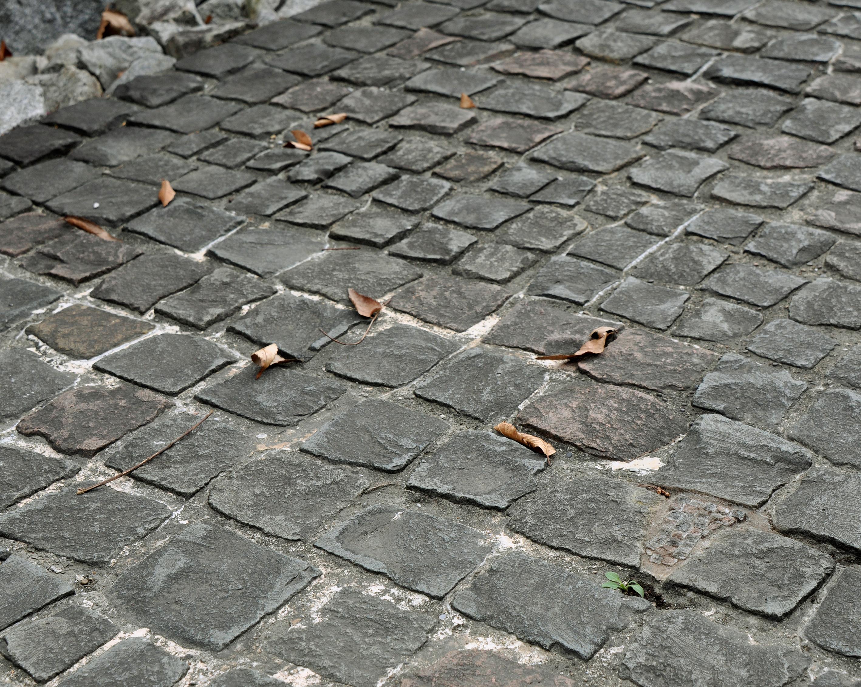 スロープ石畳   Stone  pavement slope