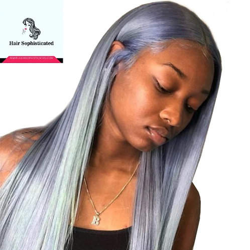 10A Grade Grey Silver Blonde Lace Front Wig