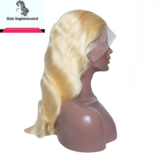10A Grade T Lace Front Wigs 613 Blonde Body Wave