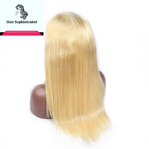 12A Grade 613 Blonde Straight Virgin Hair Lace Front Wig