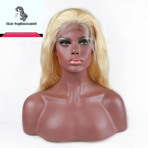 10A Blonde Body Wave Lace Front Wigs Virgin Brazilian Hair