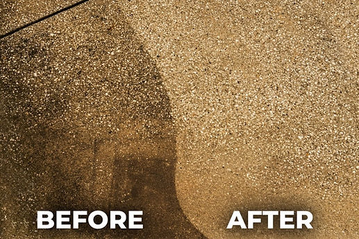 Concrete wash before after