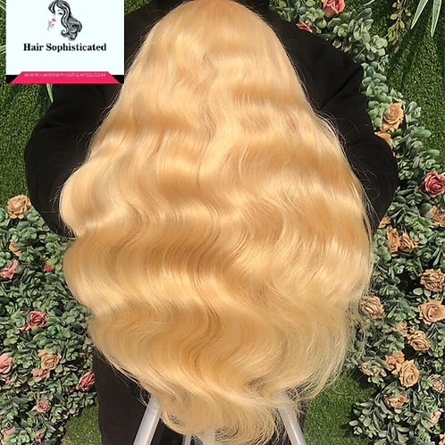 12A Grade 613 Blonde Body Wave Full Lace Wig Free Shipping