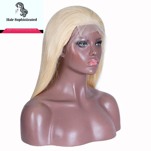 10A Grade 613 Straight Blonde Hair Full Lace Wig Free Shipping