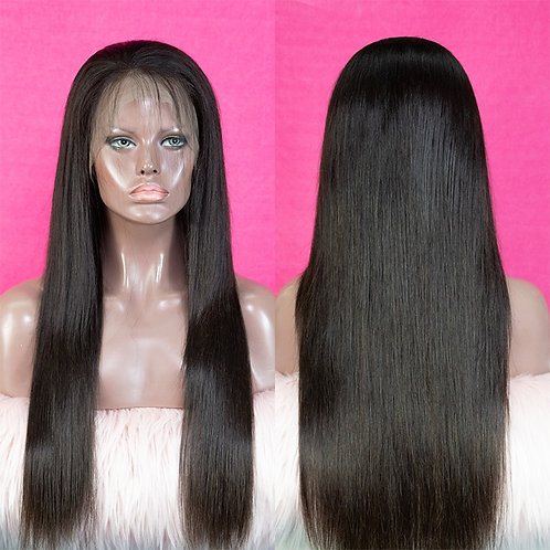 10A Grade 360 Frontal Unit Wigs Straight Hair Machine-made Wig