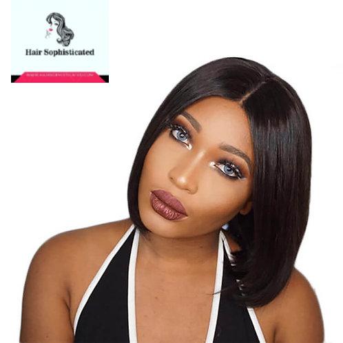 10A Bob Wigs Lace Frontal Wig Central Part/Bang Brazilian Hair Wig