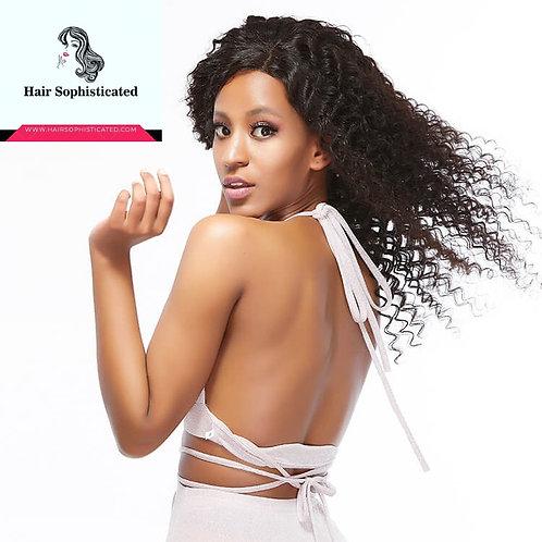12A Grade Deep Wave Hair Full Lace Wig Virgin Human Hair