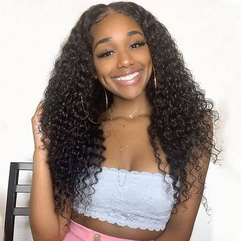 10A Deep Wave Lace Front Wig Virgin Brazilian Hair out of based on customer rati