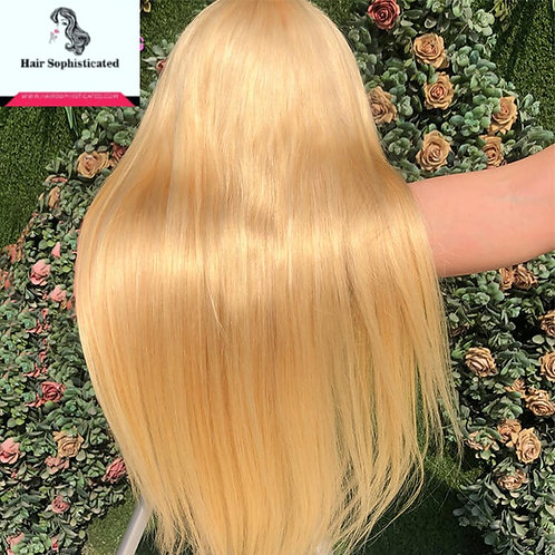 12A Grade 613 Blonde Straight Hair Full Lace Wig Free Shipping