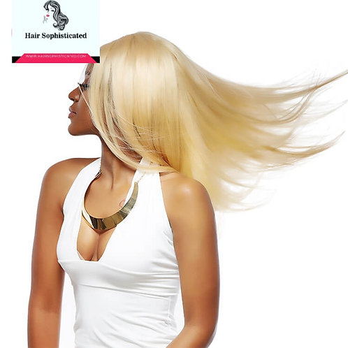 10A Grade 613 Blonde Straight Hair Lace Front Wigs