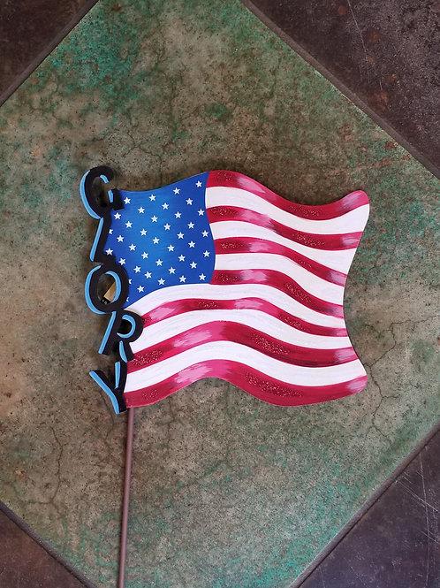 Glory Metal Flag Stake/Hang